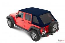 Trektop™ NX Plus™ Twill, Navy Blue : 07-18 Jeep Wrangler Unlimited JK 4 Door