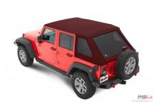 Trektop™ NX Plus™ Twill, Crushed Red Pepper : 07-18 Jeep Wrangler Unlimited JK 4 Door