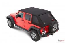 Trektop™ NX Plus™ Twill, Black Twill : 07-18 Jeep Wrangler Unlimited JK 4 Door