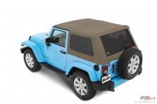 Trektop™ NX Plus™ Twill, Pebble Beige : 07-18 Jeep Wrangler JK 2 Door
