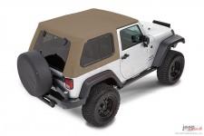 Trektop™ Pro Hybrid, Pebble Beige : 07-18 Jeep Wrangler JK 2 Door