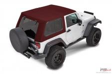 Trektop™ Pro Hybrid, Crushed Red Pepper : 07-18 Jeep Wrangler JK 2 Door