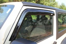 Window Rain Deflectors : 07-17 Jeep Wrangler JK