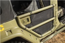 Tube Doors Kit, Rear, Eclipse Cover : 07-18 Jeep Wrangler JKU, 4 Door