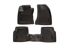 Floor Liner Kit, Front/Rear, Black : 18-18 Jeep Compass MP