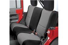 Neoprene Rear Seat Cover, Black/Gray : 07-17 Jeep Wrangler JK