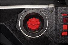 Elite Fuel Cap, Aluminum, Red : 01-18 Jeep Wrangler TJ/LJ/JK/JKU