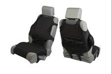 Neoprene Seat Protector Vests, Black : 07-17 Jeep Wrangler JK