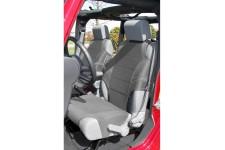 Neoprene Seat Protector Vests, Gray : 07-17 Jeep Wrangler JK