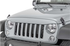 NightHawk Light Brow, Billet Silver : 07-18 Jeep Wrangler JK