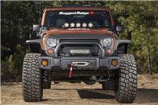 Spartacus Stubby Bumper, Black : 07-18 Jeep Wrangler JK/JKU