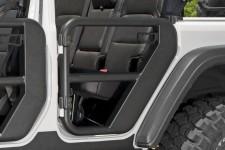 Tube Doors, Rear, Textured Black : 18-18 Jeep Wrangler JLU, 4 Door