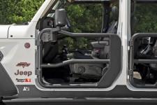 Tube Doors Kit, Front, Textured Black, Mirrors : 18-18 Jeep Wrangler JL