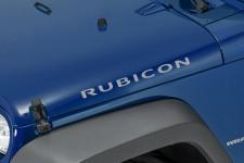 """Rubicon"" Hood Decal, Light Silver : 07-18 Jeep Wrangler JK"
