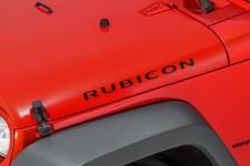 """Rubicon"" Hood Decal, Black : 07-18 Jeep Wrangler JK"