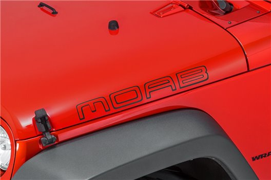 """MOAB"" Hood Decal : Jeep Wrangler JK"