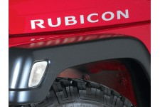 """""""Rubicon"""" Hood Decal, Light Silver : 03-06 Jeep Wrangler TJ & Unlimited"""