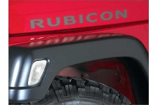 """Rubicon"" Hood Decal, Dark Silver : 03-06 Jeep Wrangler TJ & Unlimited"