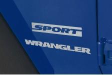 """Sport"" Decal, Silver : Jeep Wrangler JK"