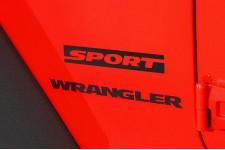 """Sport"" Decal, Black : Jeep Wrangler JK"