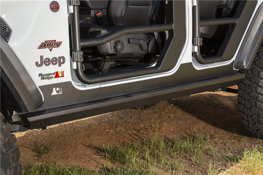 XHD Rock Sliders, Steel : 18-19 Jeep Wrangler JL, 4 Door