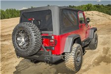 Montana Soft Top, Black Diamond : 97-06 Jeep Wrangler Unlimited LJ