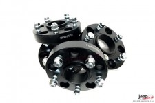 Wheel Spacer Kit, black anodized aluminum, 2 pairs - for both axles, 30mm, 5 x 127