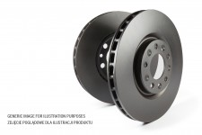 Front Disc Brakes, plain, vented, Standard Series : Jeep Renegade BU