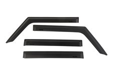Window Visors, Matte Black : 18-19 Jeep Wrangler JL 4-Dr