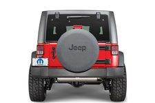 Tire Cover in Black Denim with Black Jeep Logo