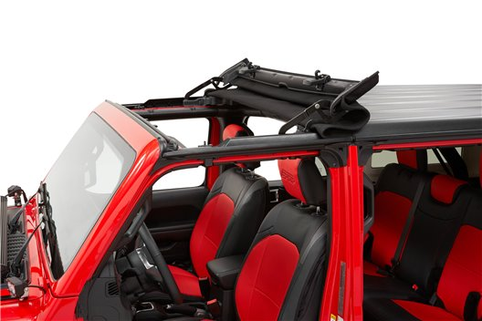 Sunrider for Hardtop, Black Twill : 18-19 Jeep Wrangler JL & 2020 Gladiator JT