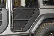 Fortis Tube Door Covers, Rear Pair, Black : 18-19 Jeep Wrangler JLU