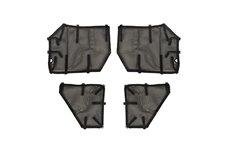 Fortis Tube Door Covers, Full Set, Black : 18-19 Jeep Wrangler JLU