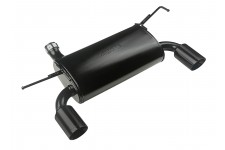 Axle Back Exhaust System, Black, 07-16 Wrangler