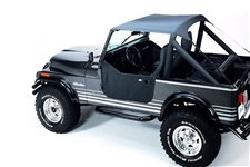 Traditional Bikini Top, Black : 76-91 Jeep CJ-7, CJ-8 Scrambler & Wrangler YJ