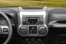 Center Radio Console, Charcoal : 11-17 Jeep Wrangler JK