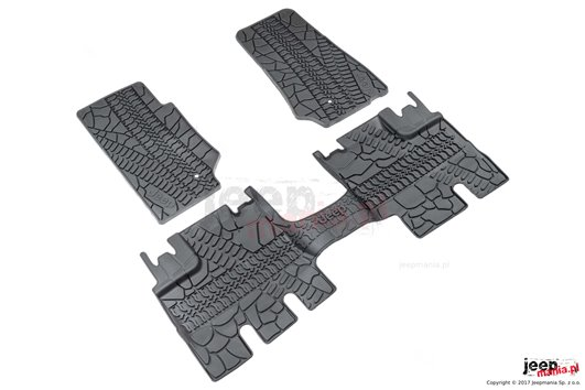 Floor Slush Mats with Tire Tread...