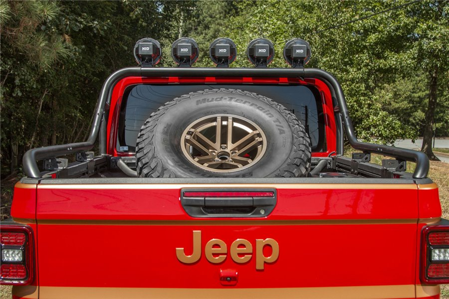 Spare Tire Carrier, Bed Mount : Jeep Gladiator JT