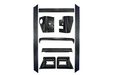 Body Armor Kit, Full, 9 Piece : 97-06 Jeep Wrangler TJ