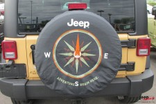 Cover spare wheel with graphics COMPASS.