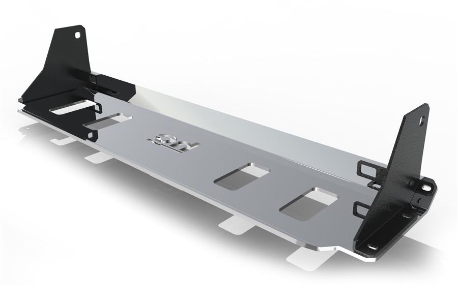 Radiator, Stabiliser, Steering Rods Skid Plate, Standard version › 2018+ Jeep Wrangler JL : 2.0, 2.2, 3.6   6mm, Aluminum