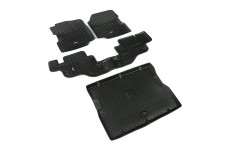 All Terrain Floor Liner Set, Black : 76-95 Jeep CJ/Wrangler YJ