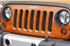 Mesh Grille Insert, Black, 07-16 Jeep Wrangler JK