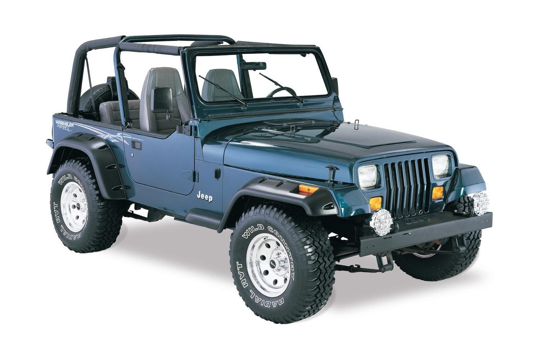 all terrain fender flare kit 6 inch 6 piece 87 95 jeep wrangler yj jeepmania accessories. Black Bedroom Furniture Sets. Home Design Ideas