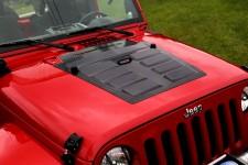 Hood Vent Insert, Black : 07-18 Jeep Wrangler JK