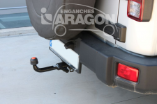 Towing hook for EU factory bumper : European approval, 07-18 Jeep Wrangler JK