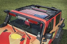 Eclipse Sun Shade, USA Flag, 07-16 Jeep Wrangler JK
