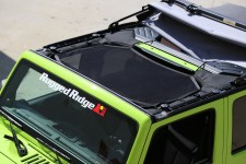 Eclipse Sun Shade, Black : 07-17 Jeep Wrangler JK