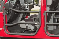 Tube Doors, Front, Textured Black : 07-18 Jeep Wrangler JK