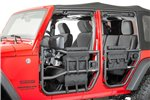 Tube Door Cargo Cover and Storage Bags : 97-17 Jeep Wrangler TJ/JK